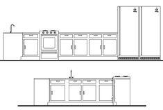 Kitchen units CAD block - cadblocksfree -CAD blocks free