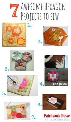 Sewing Projects with Hexagon Flowers