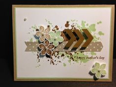 Gorgeous Grunge and Petite Petals  Mother's Day Card Stampin' Up! Rubber Stamping Handmade cards