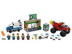 Vehicles - Toy Trucks   LEGO.com   Official LEGO® Shop CA Lego City Police Sets, Lego City Sets, Lego Sets, Building Sets For Kids, Lego Building Sets, Monster Truck Toys, Toy Trucks, Lego Builder, Lego System