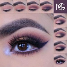 Smokey purple tones