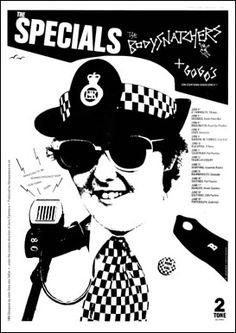 Ska, Ska, Ska: The Specials, Selecter & Bad Manners: Cool photos of the bands & their fans The English Beat, Ska Music, Pop Art, Punk Poster, Ska Punk, Music Flyer, Elvis Costello, Rude Boy, Rock Music