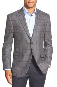 Peter Millar Classic Fit Windowpane Wool Sport Coat available at #Nordstrom