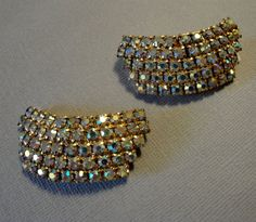 Vintage Shoe Clips with sparkling AB by Rhinestones in Rainbow colors  by AlexiBlackwellBridal, $39.00