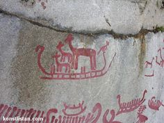 konstlistan.com - rock carvings rock art petroglyph scandinavia symbols ships weapons