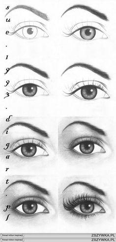 jak narysowac oko