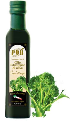 $7 Extravirgin olive oil with Broccoli rape    First producers in the world    It is a natural product made from extra virgin olive oil flavored with fresh broccoli rape, without added flavors. It is ideal for enriching pasta dishes, fish and bruschette. This product is available in bottles of 0,25 liters.  www.oliopob.it