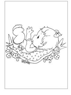 coloring page Precious moments on Kids-n-Fun. Coloring pages of Precious moments on Kids-n-Fun. More than coloring pages. At Kids-n-Fun you will always find the nicest coloring pages first! Baby Coloring Pages, Printable Coloring Pages, Coloring Pages For Kids, Coloring Sheets, Coloring Books, Kids Coloring, Baby Motiv, Precious Moments Coloring Pages, Illustrations