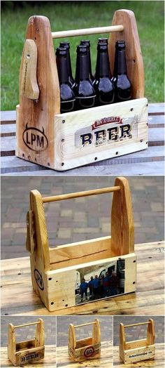 wooden pallet bottle holder tray
