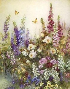 LAMINAS... Y TRABAJOS CON FLORES | Aprender manualidades es facilisimo.com Watercolor Flowers, Watercolor Paintings, Painting & Drawing, Flower Prints, Flower Art, Decoupage Paper, Flower Images, Paper Background, Beautiful Paintings