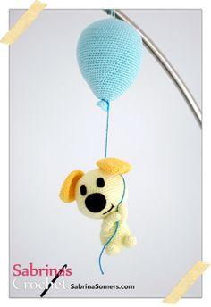 Haken met Sabrina: Gratis Haakpatroon Pip (Woezel & Pip) met ballon, Nederlands, amigurumi, knuffel, kraamcadeau