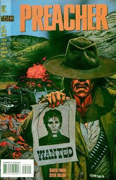 Preacher #2 first appearance of the Saint of Killers.
