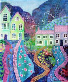 Garden Paths, painting on canvas by Jessica Stride