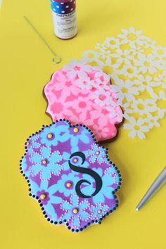 Cookie stencil tutorial