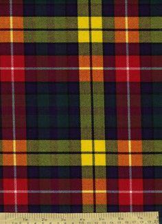 Buchanan Tartan - The Shank Family are said to come from Clan Buchanan.