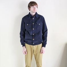 BEGGARS RUN - MOLESKIN BOMBER JACKET (NAVY)