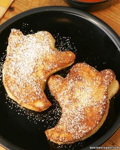 Ghost of Monte Cristo Sandwiches - Serve these ghost-shaped sandwiches and give kids or party guests a savory surprise.