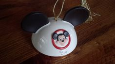 Disney Mickey Mouse Hat Ornament by Lenox by CottageWelcome on Etsy