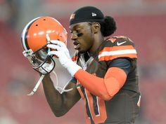 There's a red flag for Robert Griffin III and the Browns one week before the…