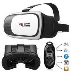 d9506f73a62d86 2nd 3D VR Box Virtual Reality Cardboard Glasses Gamepad for Android Samsung