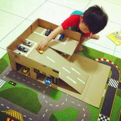 車車再多也不怕!紙箱立體停車場DIY - 動手DIY - KidsPlay親子就醬玩