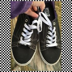 So Trendy! Black Vans! ❤️ EUC Perfect with everything! Vans Shoes Sneakers