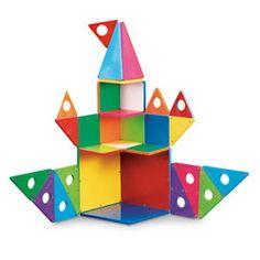 Magna-Tiles® Clear Colors Set - 33 Pieces