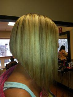 Extreme. Bob . hair cut . blonde
