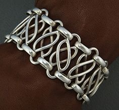 Bracelet | Hector Aguilar. Sterling silver. c. 1940s, Mexico