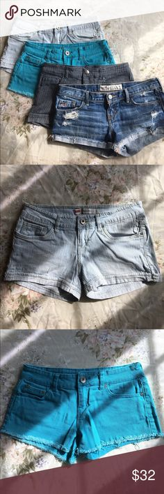Shorts bundle Bundle of 3 pairs of jean shorts! The Levi's are size 3, Refuge 4, and Color Swatch is S; different labeled sizing but they all fit similarly. *If you'd like to buy a pair separately, let me know and I'll make a listing for it - $10, price is firm bc each has only been worn once or twice! Please feel free to leave any questions or offers! :) Levi's Shorts Jean Shorts