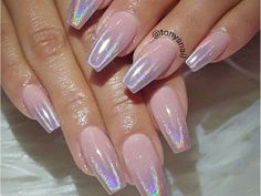 Tapered Square Nails. Ballerina Nails. Baby Pink Nails. Holographic Nails. Gel Nails. Acrylic Nails.