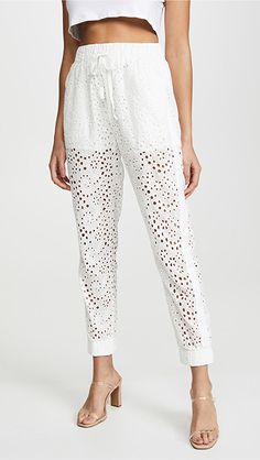 KENDALL + KYLIE Broderie Anglaise Pants | SHOPBOP