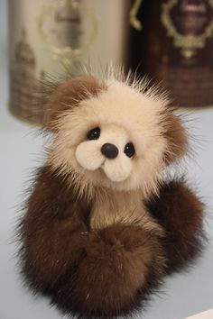 Malt  5 Mink Teddy bear making pattern by Helen by Barecubs Now available on Etsy $10
