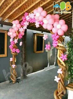 Birthday Party LOL Dolls for a girl's party - Celebrat : Home of Celebration, Events to Celebrate, Wishes, Gifts ideas and more ! Balloon Tree, Balloon Flowers, Pink Flowers, Ballon Decorations, Party Decoration, Ballon Arrangement, House Of Balloons, Deco Ballon, Balloon Columns