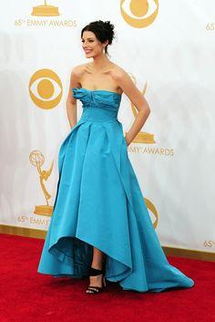 Emmy Awards 2013 - Jessica Pare in Oscar de la Renta On the Red Carpet