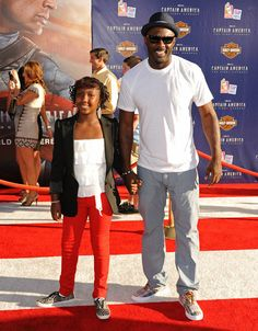 Isan with her dad, Idris Elba