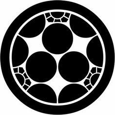 家紋 丸に三つ割梅鉢 家紋 紋章 梅鉢