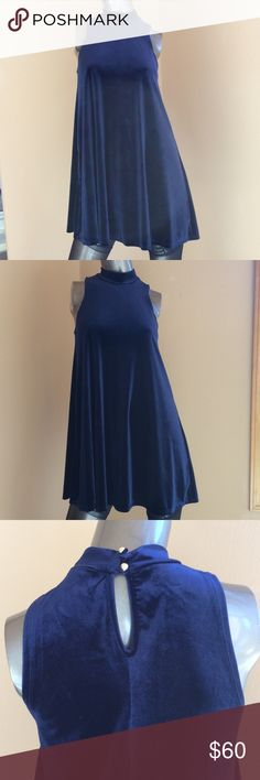 One collection velvet blue dress ❤️xs One collection velvet blue dress ❤️xs never been worn one collection Dresses