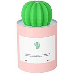 Mini Cactus Mist Humidifier Air Diffuser with Timed Auto Shutdown Low Noise for Car Office Desk Home Baby Bedroom Pink One Size