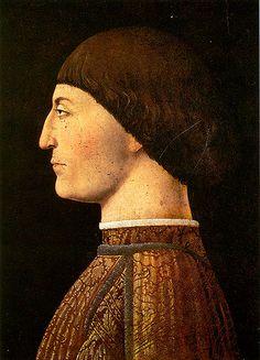 """Piero della Francesca ~ """"Ritratto di Sigismondo Malatesta"""""""