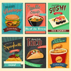 A vector illustration of food poster. Vector illustration, zip archive contain eps 10 and high resolution jpeg.