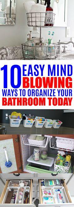 Organizing Ideas For Bathrooms, Bathroom Organization