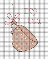 I love tea cross, designed by Angela Poole.  This motif was from the Live Life, Love Tea pattern originally published in @CrossStitcher, June 2012 (Issue 252).
