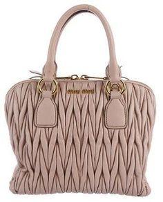 7b334586c41b Miu Miu Leather handbag. Enemmän. Miu Miu Matelassé Satchel. The RealReal