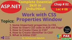 Net work with css properties: Some of the Properties: CSS Properties Reference List Property Description background-color Sets the background color of an. Programming Languages, Web Application, Knowledge, Coding, Positivity, Programming, Facts, Optimism
