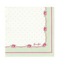 GreenGate Paper Napkin Celine White Small 20 Pieces | NEW! GreenGate Spring/Summer 2014 | Originated-Shop
