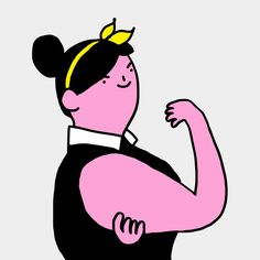 It's no secret that women come in all shapes and sizes, and each of them is a unique piece of art. Cecile Dormeau is a French artist with an incredible talent Anim Gif, Gif Animé, Animated Gif, Woman Illustration, Graphic Design Illustration, Frases Good Vibes, Fat Art, Cartoon Gifs, Animation
