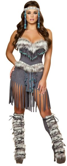 Details about Sexy Native American Indian Babe Suede Look Halloween - halloween girl costume ideas