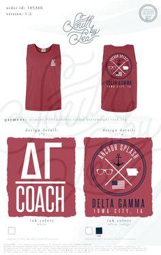 Delta Gamma | DG | Anchor Splash | Philanthropy T-Shirt Design | South by Sea…