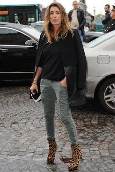 la modella mafia Agnès Boulard AKA Mademoiselle Agnès street style - leopard boots